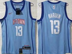 Mens Nba Houston Rockets #13 James Harden Blue 2020-21 City Edition Swingman Nike Jersey