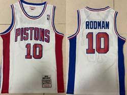 Mens Nba Detroit Pistons #10 Dennis Rodman White 1988-89 Mitchell&ness Hardwood Classics Swingman Jersey