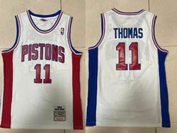 Mens Nba Detroit Pistons #11 Isiah Thomas White 1988-89 Mitchell&ness Hardwood Classics Swingman Jersey