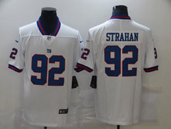 Mens Nfl New York Giants #92 Michael Strahan White Vapor Untouchable Color Rush Limited Player Jersey