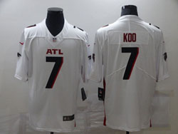 Mens Nfl Atlanta Falcons #7 Koo White Vapor Untouchable Limited Nike Jersey