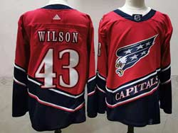 Mens Nhl Washington Capitals #43 Tom Wilson Red 2021 Reverse Retro Alternate Adidas Jersey