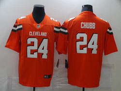 Mens Nfl Cleveland Browns #24 Nick Chubb Orange Vapor Untouchable Limited Nike Jersey