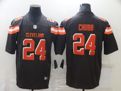 Mens Nfl Cleveland Browns #24 Nick Chubb Brown Vapor Untouchable Limited Nike Jersey