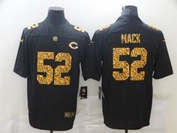 Mens Nfl Chicago Bears #52 Khalil Mack Black Leopard Vapor Untouchable Limited Nike Jersey