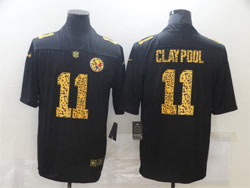 Mens Nfl Pittsburgh Steelers #11 Chase Claypool Black Leopard Vapor Untouchable Limited Nike Jersey
