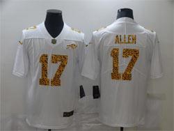 Mens Nfl Buffalo Bills #17 Josh Allen White Leopard Vapor Untouchable Limited Nike Jersey