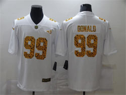 Mens Nfl Los Angeles Rams #99 Aaron Donald White Leopard Vapor Untouchable Limited Nike Jersey