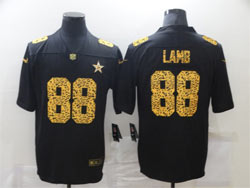 Mens Nfl Dallas Cowboys #88 Ceedee Lamb Black Leopard Vapor Untouchable Limited Nike Jersey