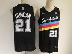 Mens Nba San Antonio Spurs Spurs #21 Tim Duncan Black 2020-21 City Edition Nike Swingman Jersey