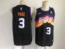 Mens Nba Phoenix Suns #3 Chris Paul Black 2020-21 City Edition Swingman Nike Jersey