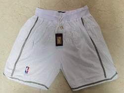 Mens Nba Los Angeles Lakers Mvp White Shorts