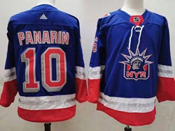Mens Nhl New York Rangers #10 Artemi Panarin Light Blue 2021 Reverse Retro Alternate Adidas Jersey