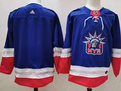 Mens Nhl New York Rangers Blank Light Blue 2021 Reverse Retro Alternate Adidas Jersey