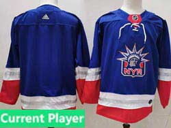 Mens Nhl New York Rangers Current Player Light Blue 2021 Reverse Retro Alternate Adidas Jersey