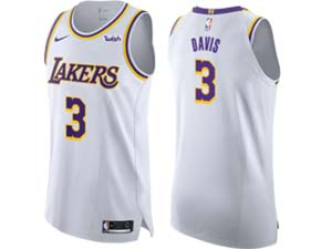 Mens Nba Los Angeles Lakers #3 Anthony Davis White Wish New Nike Jersey