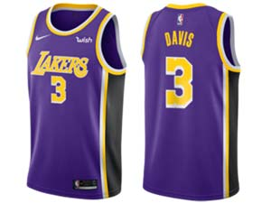 Mens Nba Los Angeles Lakers #3 Anthony Davis Purple Wish New Nike Jersey