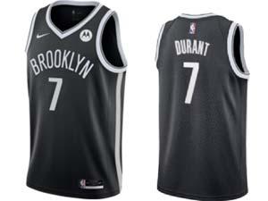 Mens Nba Brooklyn Nets #7 Kevin Durant Black Motorola Logo Nike Swingman Jersey