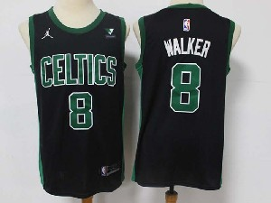 Mens 2021 Nba Boston Celtics #8 Kemba Walker Black Vistaprint Logo City Edition Swingman Nike Jersey