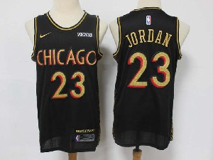 Mens Nba Chicago Bulls #23 Michael Jordan Chicago Black 21 City Edition Nike Swingman Jersey