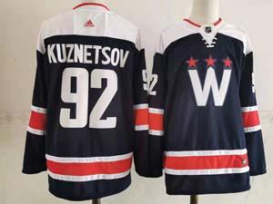 Mens Nhl Washington Capitals #92 Evgeny Kuznetsov 2020-21 Alternate Premier Adidas Blue Navy Jersey