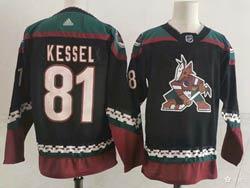 Mens Nhl Arizona Coyotes #81 Phil Kessel Alternate Premier Black Adidas Jersey