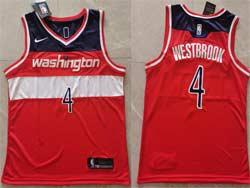 Mens 2021 Nba Washington Wizards #4 Russell Westbrook Red Icon Edition Swingman Nike Jersey