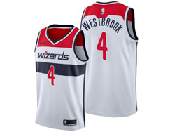 Mens 2021 Nba Washington Wizards #4 Russell Westbrook White Association Edition Swingman Nike Jersey