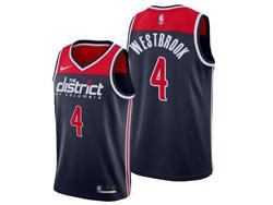 Mens 2021 Nba Washington Wizards #4 Russell Westbrook Navy Statement Edition Swingman Nike Jersey