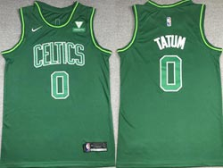 Mens 2021 Nba Boston Celtics #0 Jayson Tatum Green Earned Edition Nike Swingman Jersey