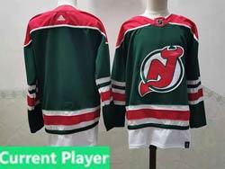 Mens Nhl New Jersey Devils Current Player Green 2021 Reverse Retro Alternate Adidas Jersey
