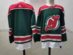 Mens Nhl New Jersey Devils Blank Green 2021 Reverse Retro Alternate Adidas Jersey