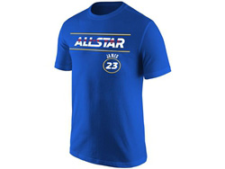 Mens Nba Los Angeles Lakers #23 Lebron James 2021 All Star Game Blue T Shirt