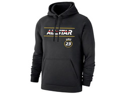 Mens Nba Los Angeles Lakers #23 Lebron James 2021 All Star Game Black Hoodie Jersey With Pocket