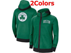 Mens Nba Boston Celtics Training Clothes Hoodie Jersey With Pocket 2 Colors