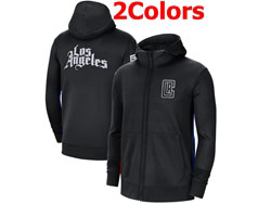Mens Nba Los Angeles Clippers Training Clothes Hoodie Jersey With Pocket 2 Colors