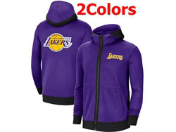 Mens Nba Los Angeles Lakers Training Clothes Hoodie Jersey With Pocket 2 Colors