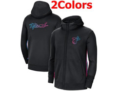 Mens Nba Miami Heat Training Clothes Hoodie Jersey With Pocket 2 Colors