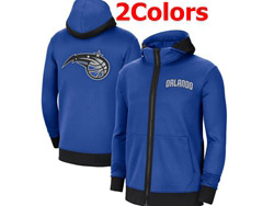 Mens Nba Orlando Magic Training Clothes Hoodie Jersey With Pocket 2 Colors