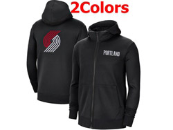 Mens Nba Portland Trail Blazers Training Clothes Hoodie Jersey With Pocket 2 Colors
