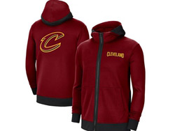 Mens Nba Cleveland Cavaliers Red Training Clothes Hoodie Jersey With Pocket