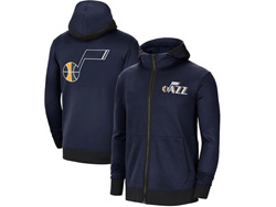 Mens Nba Utah Jazz Dark Blue Training Clothes Hoodie Jersey With Pocket