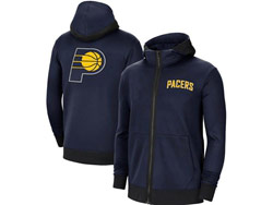 Mens Nba Indiana Pacers Blue Training Clothes Hoodie Jersey With Pocket