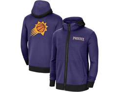 Mens Nba Phoenix Suns Purple Training Clothes Hoodie Jersey With Pocket