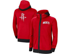 Mens Nba Houston Rockets Red Training Clothes Hoodie Jersey With Pocket