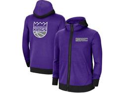 Mens Nba Sacramento Kings Purple Training Clothes Hoodie Jersey With Pocket