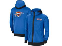 Mens Nba Oklahoma City Thunder Blue Training Clothes Hoodie Jersey With Pocket