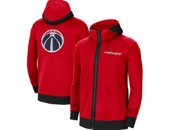 Mens Nba Washington Wizards Red Training Clothes Hoodie Jersey With Pocket