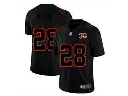 Mens Nfl Cincinnati Bengals #28 Joe Mixon 2021 Black (black Name) 3th Vapor Untouchable Limited Nike Jersey