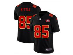 Mens Nfl San Francisco 49ers #85 George Kittle 2021 Black 3th Vapor Untouchable Limited Nike Jersey